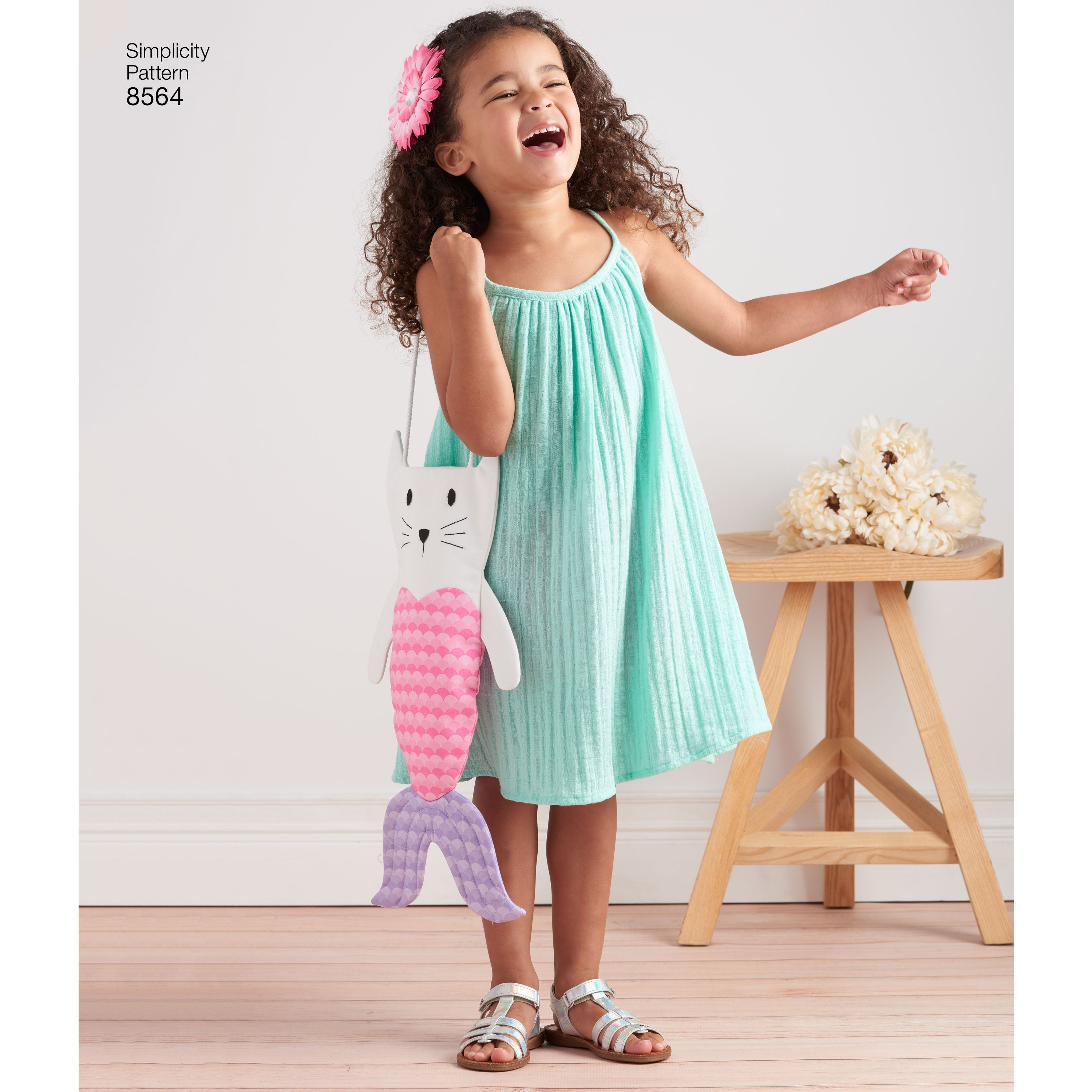S8564 Child's Dress, Top, Shorts & Bag