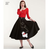 Simplicity Pattern 8775 rockabilly poodle skirts. from Jaycotts Sewing Supplies