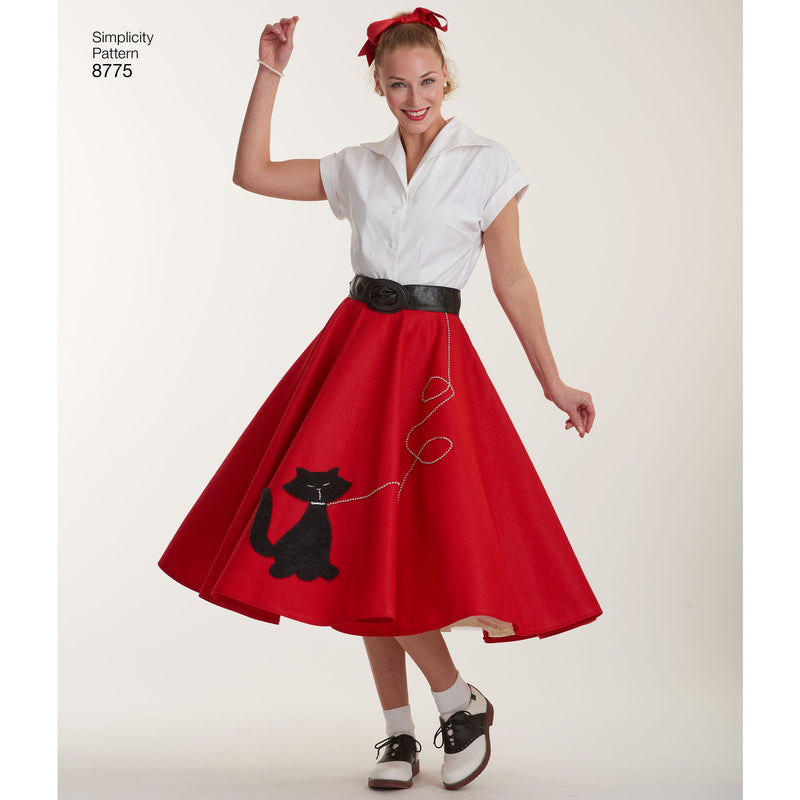 Simplicity Pattern 8775 rockabilly poodle skirts.