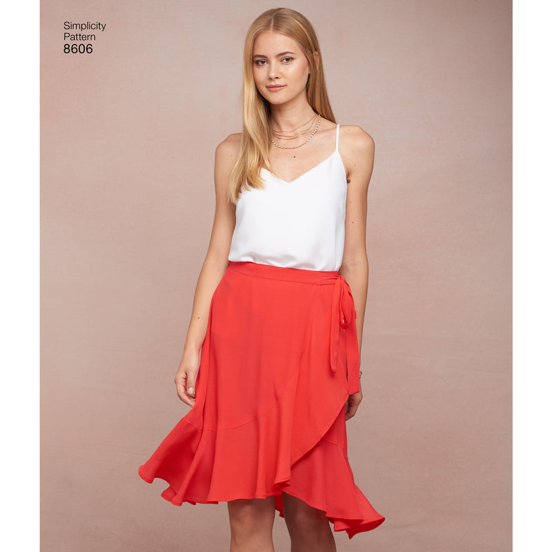 Simplicity Pattern 8606 Women's wrap skirt
