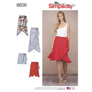 Simplicity Pattern 8606 Women's wrap skirt from Jaycotts Sewing Supplies