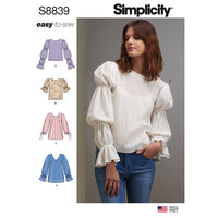 Simplicity Pattern 8839 misses-pullover-tunic or tops pattern from Jaycotts Sewing Supplies