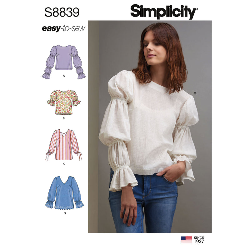 Simplicity Pattern 8839 misses-pullover-tunic or tops pattern
