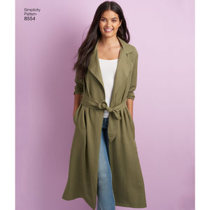 Simplicity Pattern 8554 womens petite coats and jackets