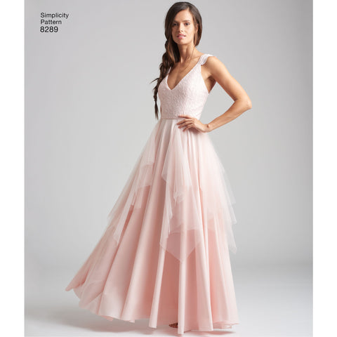 Simplicity Pattern 8289 Misses Special Occasion Dresses Jaycotts Co Uk Sewing Supplies,Fall Maxi Dresses For Wedding Guest
