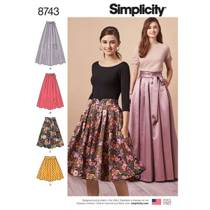 Simplicity Pattern 8743 pleated multi length skirt
