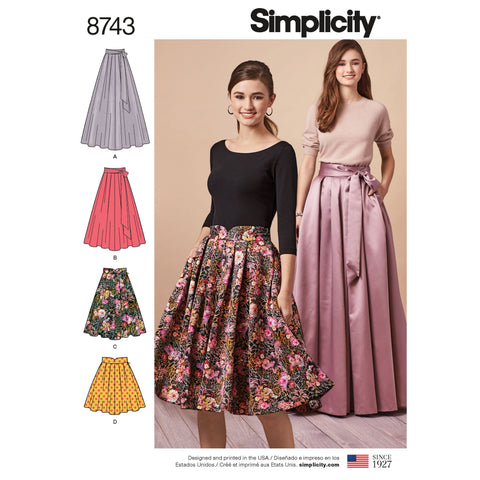 S8743 Pleated Skirts Pattern