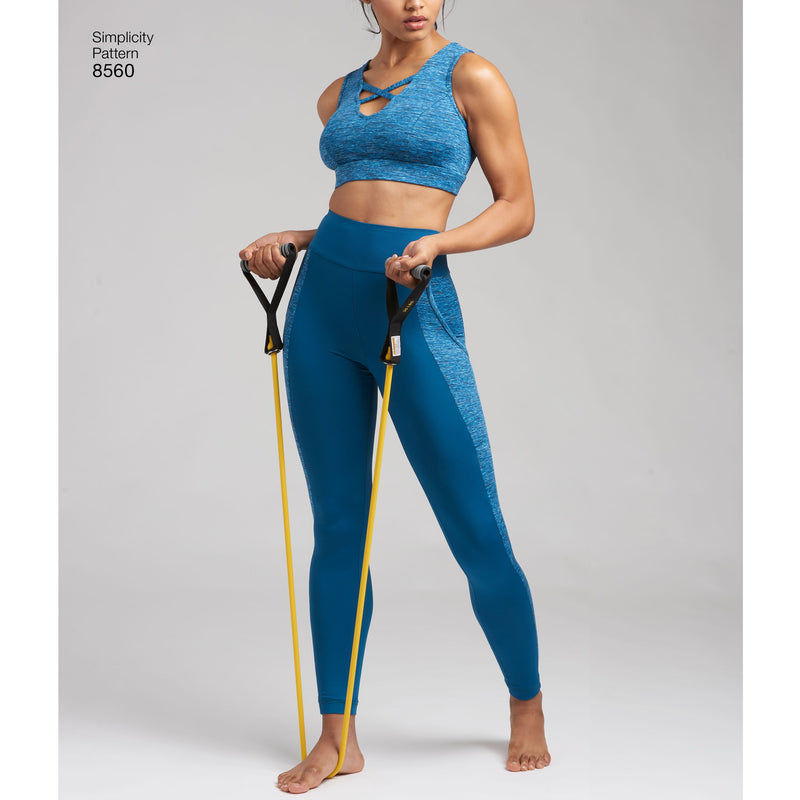 Simplicity Pattern 8560 womens knit sports bras