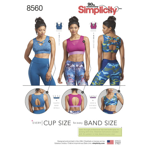 S8560 Women's' Knit Sports Bras