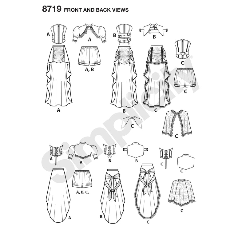 Simplicity Pattern 8719 steampunk-costumes from Jaycotts Sewing Supplies