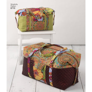 Simplicity Pattern 8710 luggage bags from Jaycotts Sewing Supplies