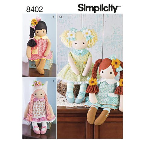 "23"" Stuffed Dolls With Clothes Pattern"