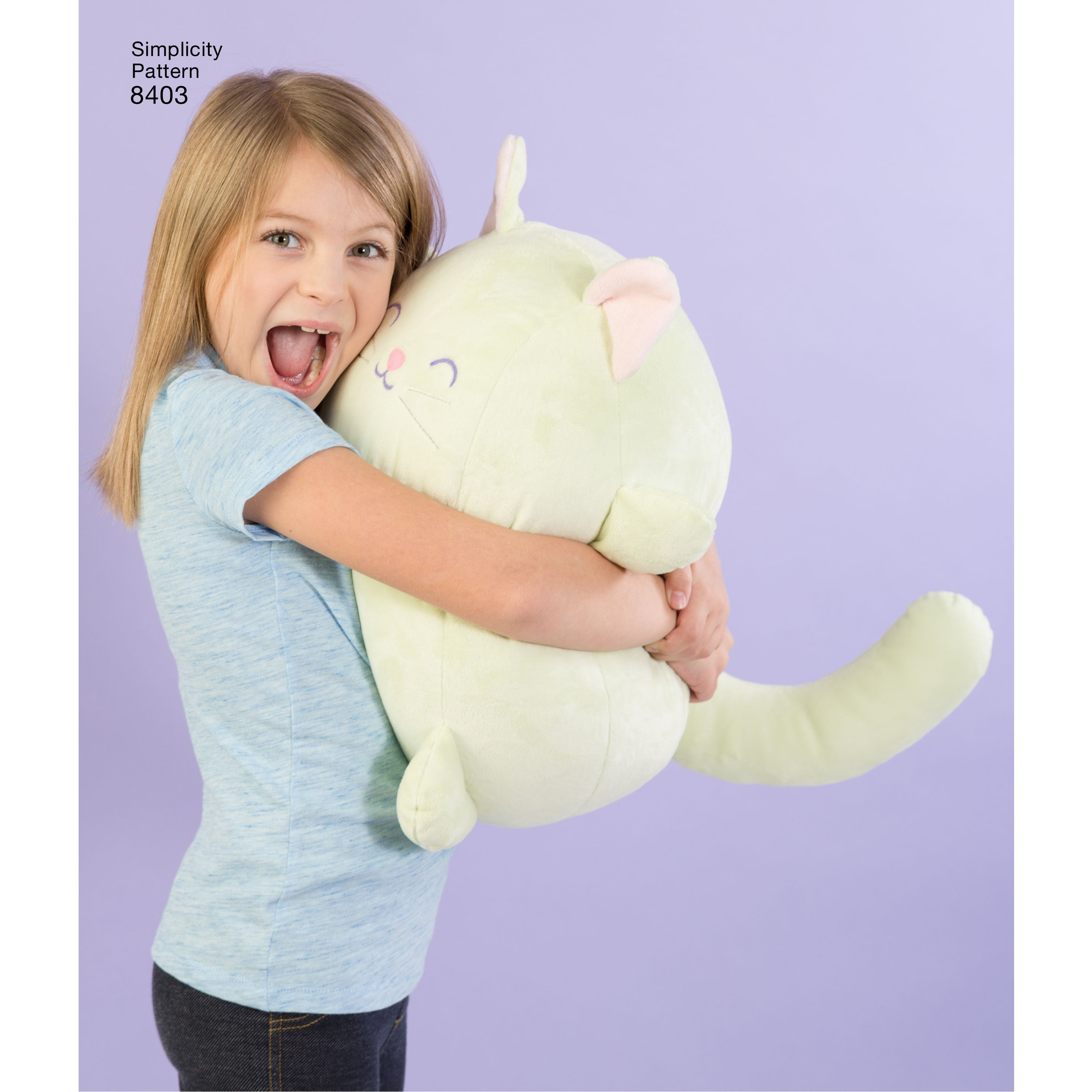 big hug time - this toy cat is just too cute !
