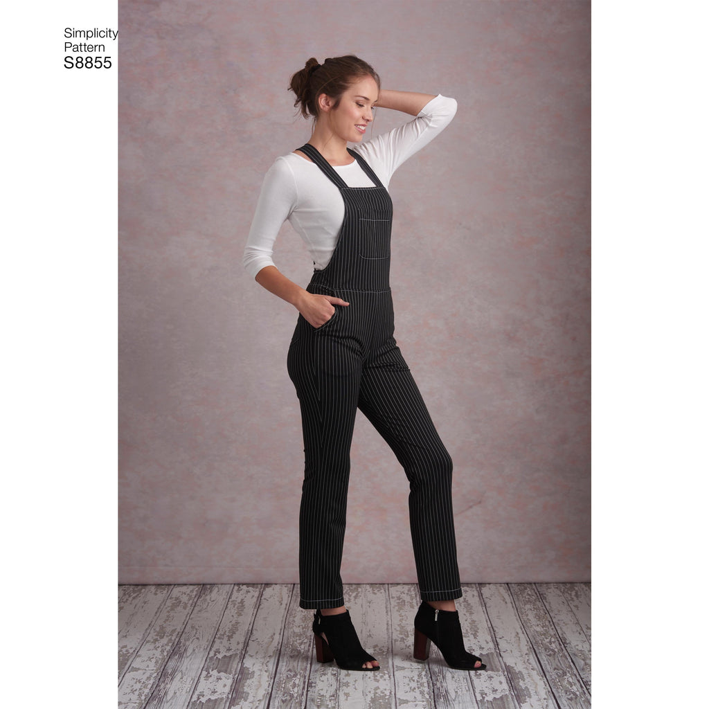 Simplicity Pattern 8855 Misses' Knit Overalls Sewing Pattern
