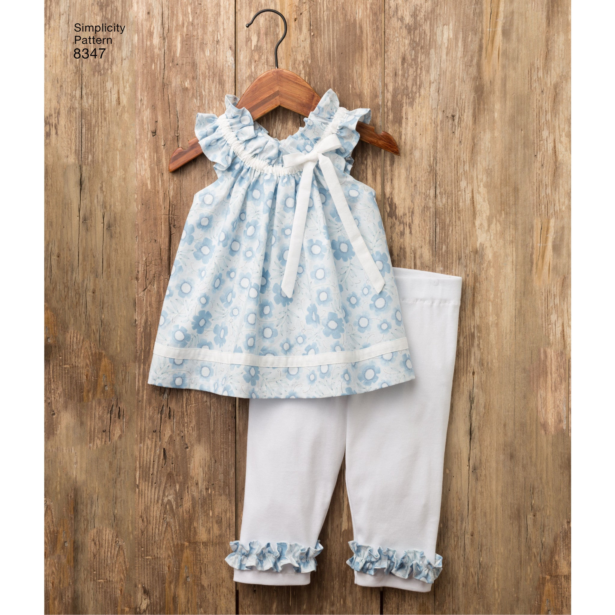 S8347 Toddlers\' dress, top and knit capris, and stuffed bunny ...