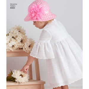 Simplicity Pattern 8563 | Toddler Dresses and Hat