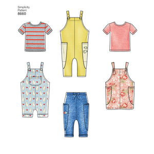 Simplicity Pattern 8660 toddler sportswear from Jaycotts Sewing Supplies