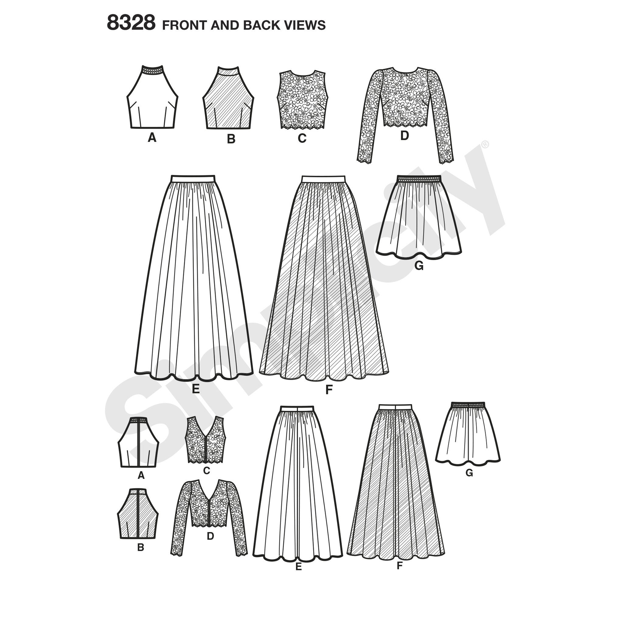 S8328 Misses Special Occasions Dress