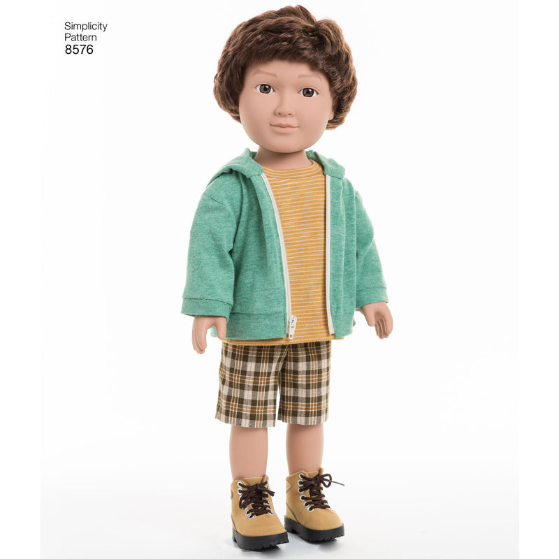 Simplicity Pattern 8576 Unisex doll clothes