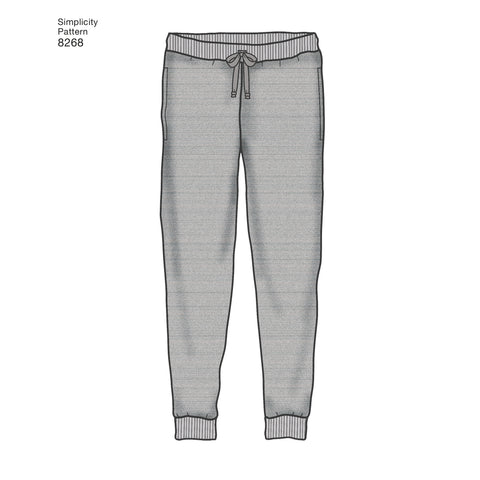 S8268 Child's, Teen's and Adult's Slim Fit Knit Jogger