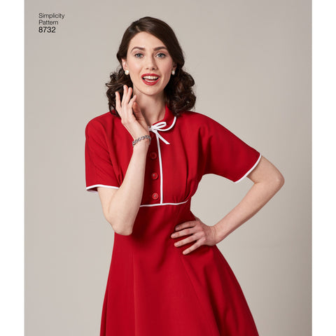 S8732 Women's Vintage Dress Pattern
