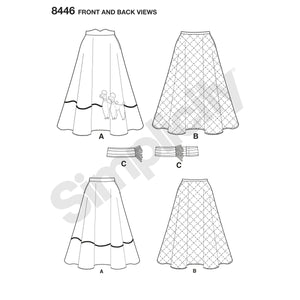 Simplicity Pattern 8446 vintage skirt and cummerbund