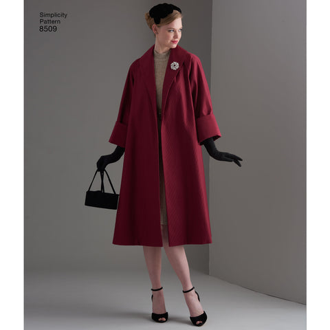 S8509 Misses' Vintage Coat or Jacket