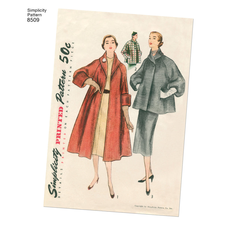 Simplicity Pattern 8509 misses vintage coat or jacket