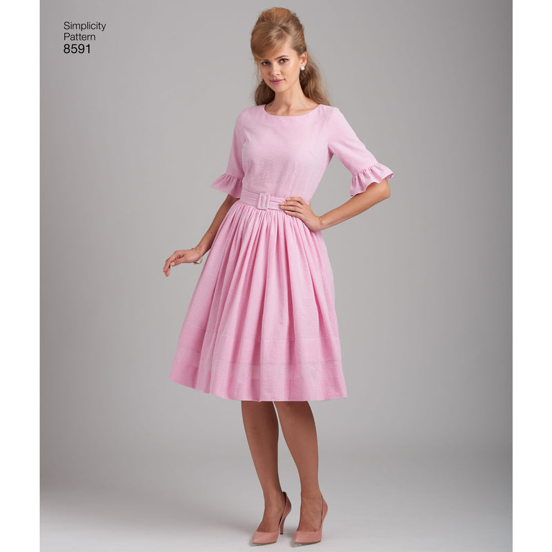 Simplicity Pattern 8591 1960's Simple to Make Dress