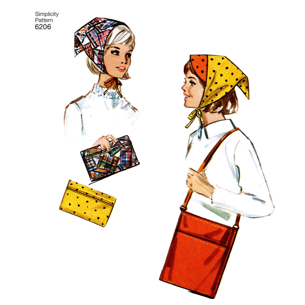 Simplicity Pattern 6206 Vintage Gift and Accessories from Jaycotts Sewing Supplies