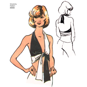 Simplicity Pattern 5555  Wrap and tie halter