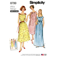 Simplicity Pattern 8799 Simple to Make 1950s gowns from Jaycotts Sewing Supplies