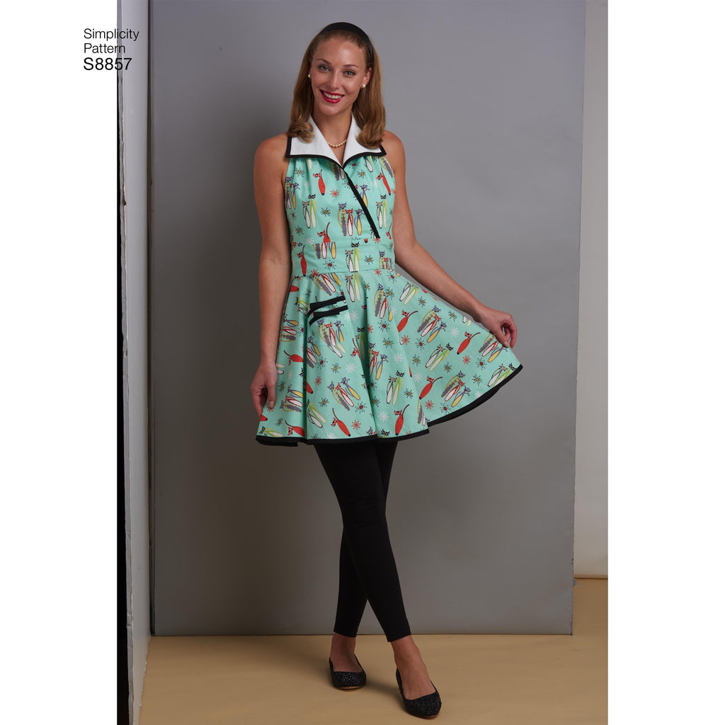 Simplicity Pattern 8857 Misses' Aprons Sewing Pattern