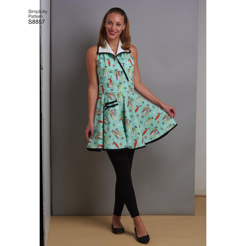 S8857 Misses' Aprons Sewing Pattern