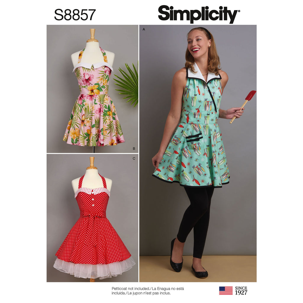 Simplicity Pattern 8857 Misses' Aprons Sewing Pattern from Jaycotts Sewing Supplies