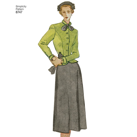 S8747 Women's Vintage Suit Pattern