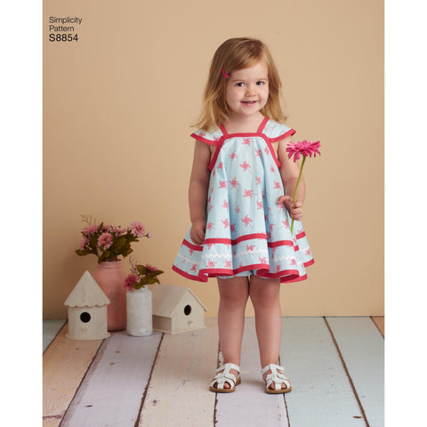 S8854 Toddlers' Pinafore Sewing Pattern
