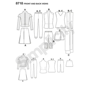 Simplicity Pattern 8718 womens-warrior-costumes