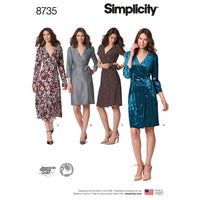 Simplicity Pattern 8735 petite wrap dress from Jaycotts Sewing Supplies