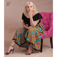 Simplicity Pattern 8612 Easy to sew wrap skirts