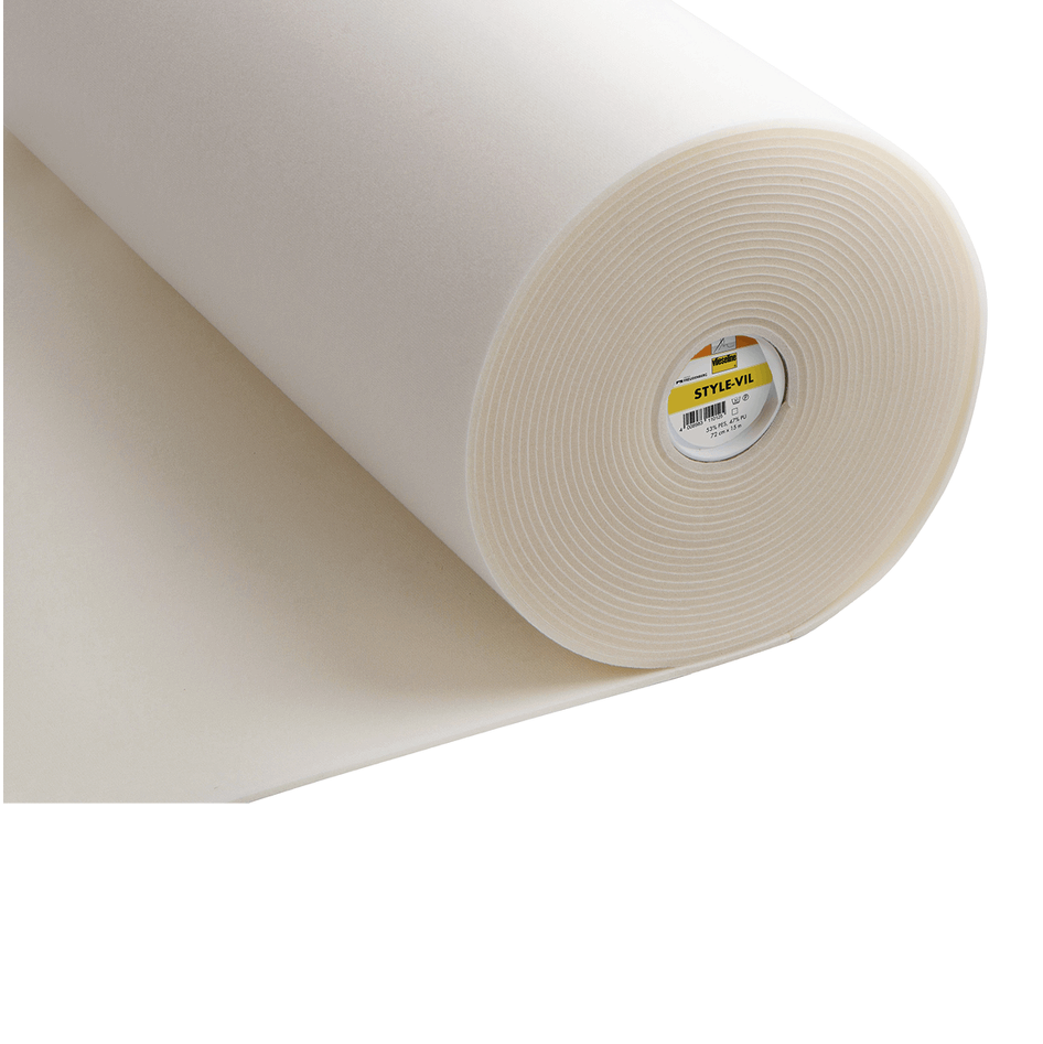 Style Vil - Foamed Fabric: 75cm wide: White from Jaycotts Sewing Supplies