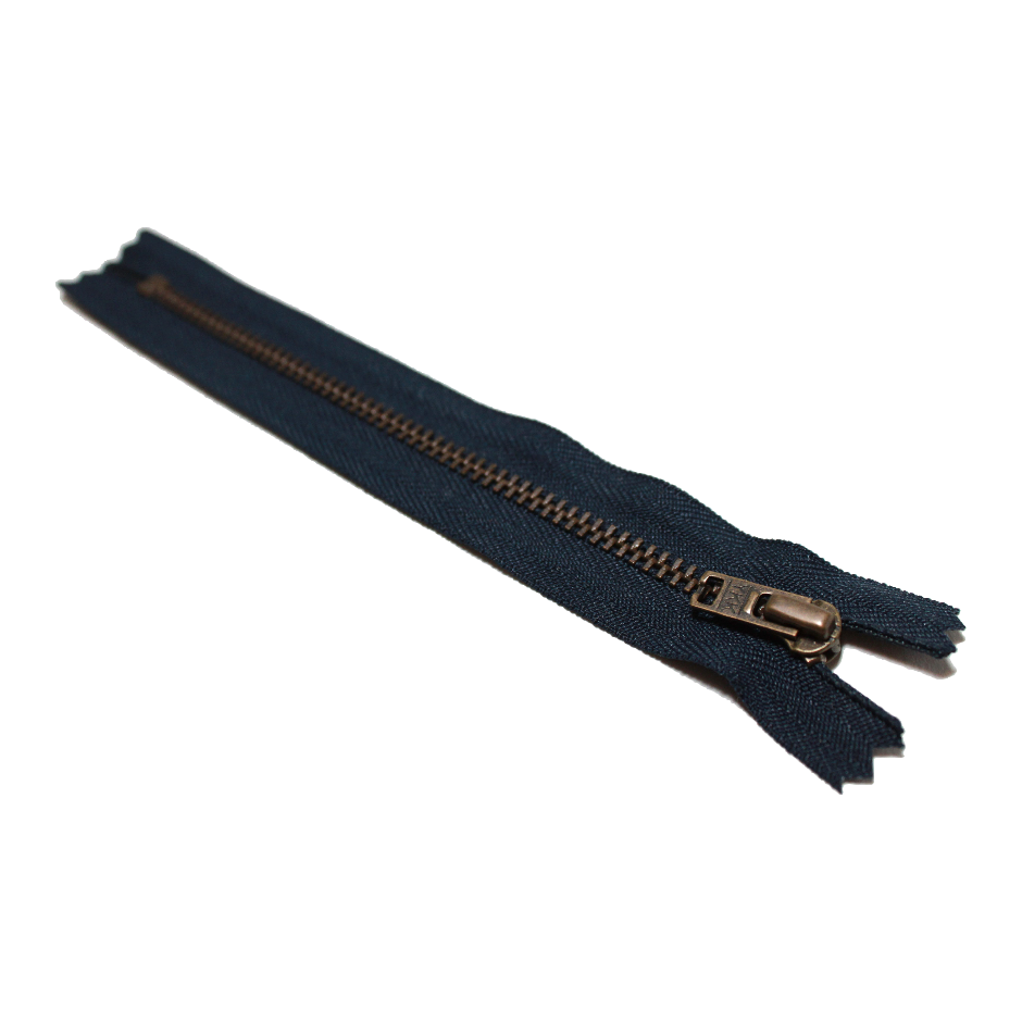 Trouser Zip: Antique Brass | Navy 560