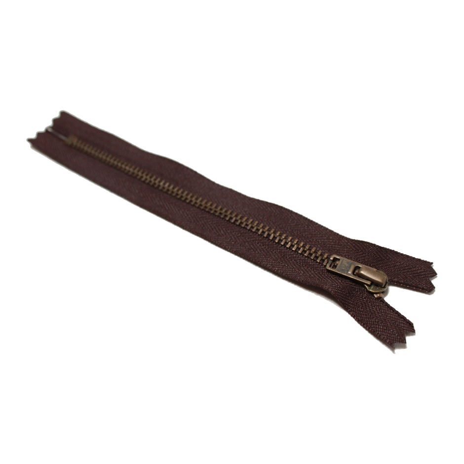 Trouser Zip: Antique Brass | Brown 570