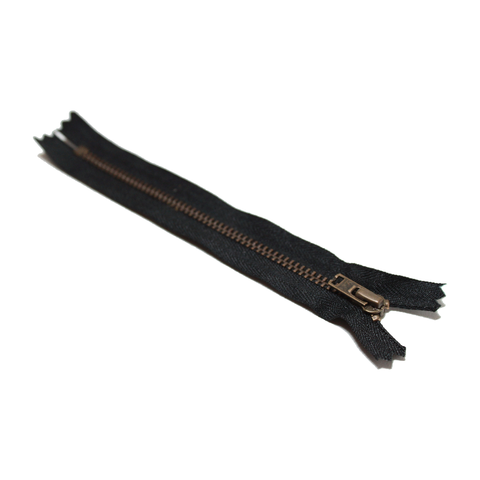 Trouser Zip: Antique Brass | Black