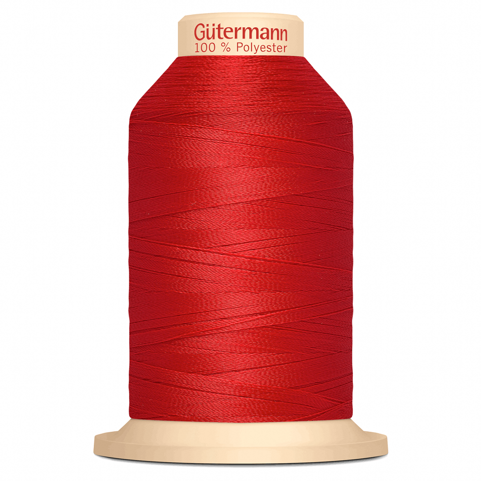 Red Gütermann Overlock Thread - TERA 180 | 2000m from Jaycotts Sewing Supplies