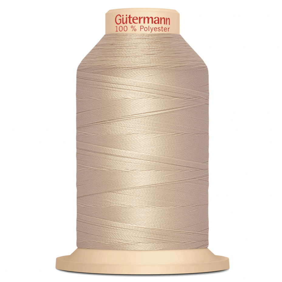 Beige Gütermann Overlock Thread - TERA 180 | 2000m from Jaycotts Sewing Supplies