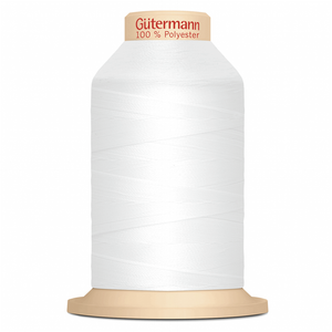 White Gütermann Overlock Thread - TERA 180 | 2000m