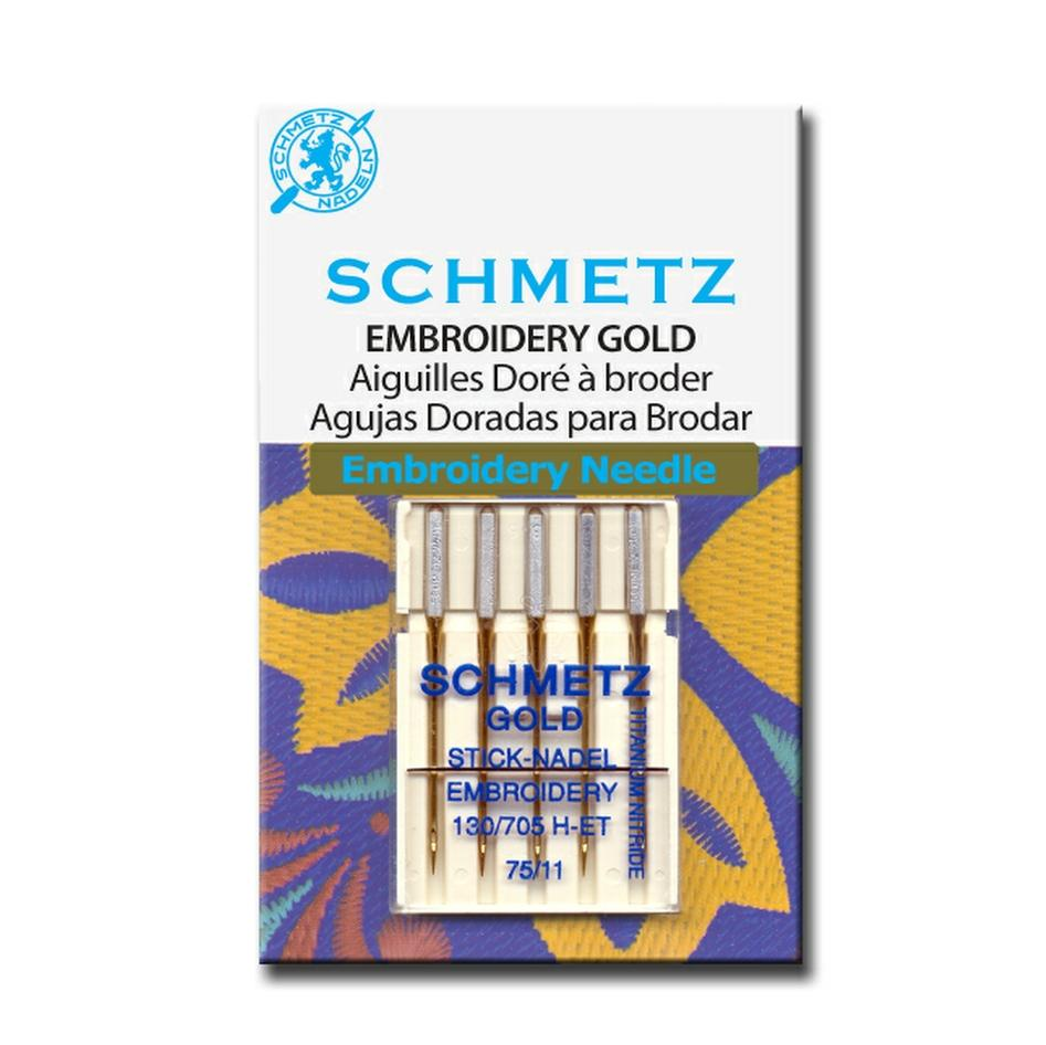 Titanium Embroidery Needles | Pack of 5 from Jaycotts Sewing Supplies