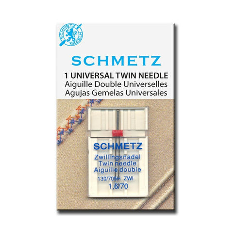 Schmetz twin needles available in 5 sizes from Jaycotts