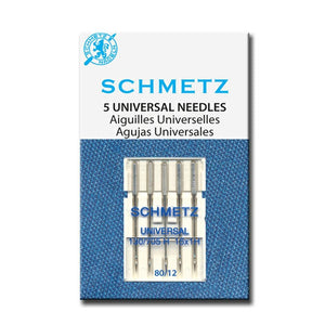 Schmetz universal needles fit most domestic sewing machines